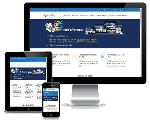 modul giao dien website