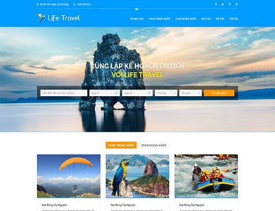 Thiết kế website du lịch - khách sạn tại hà nội