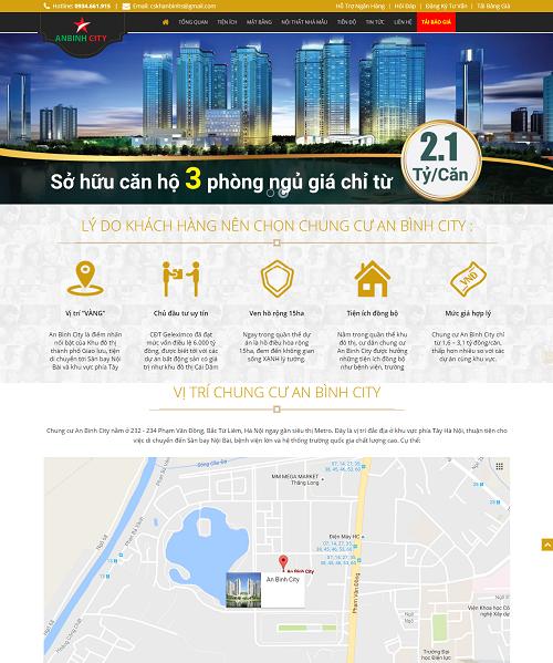 Mẫu web bất động sản anh binh city2