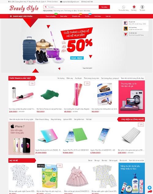 Web bán hàng beauty style