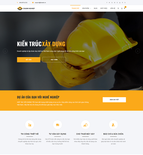 Web công ty kiến trúc xây dựng