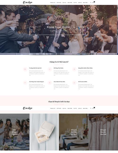 Web công ty dịch vụ đám cưới