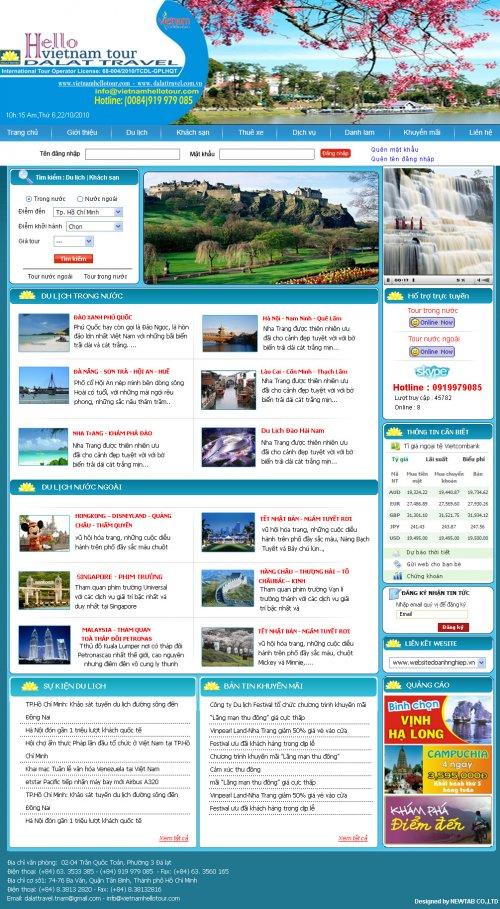 Web du lịch hello Việt Nam