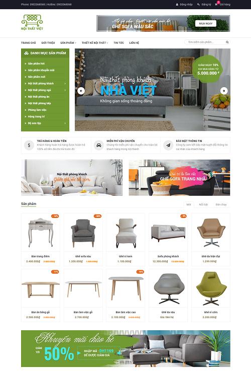 Web bán hàng nội thất việt