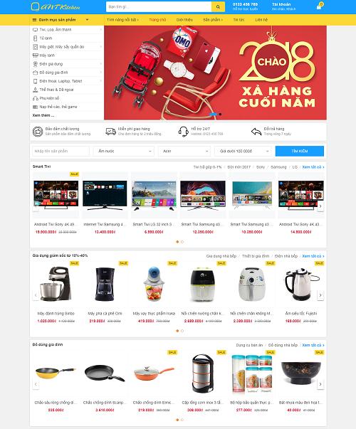 Website bán hàng đồ gia dụng