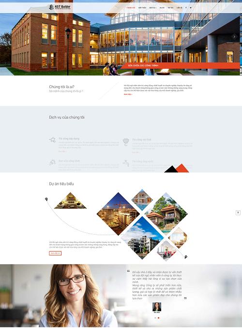 Web công ty dịch vụ sửa chữa công trình nhà cửa