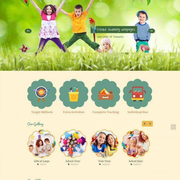 Thiết kế website - trung tâm kỹ năng cho trẻ nhỏ