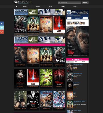 Web giải trí web xem phim
