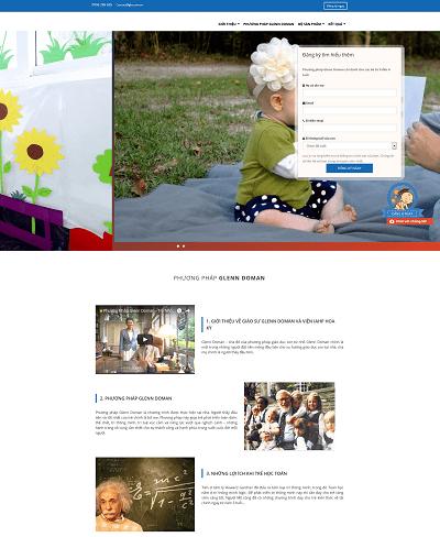 Web giáo dục phương pháp học glenndoman cho trẻ nhỏ
