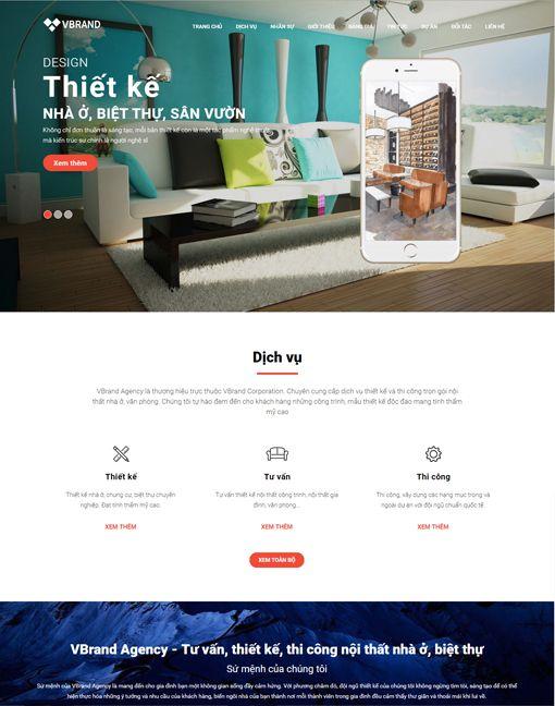 Thiết kế web nội thất sân vườn