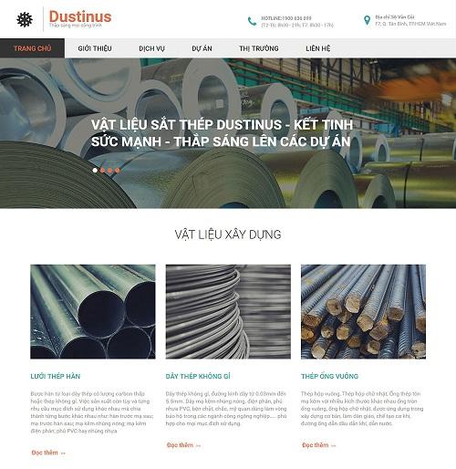 Web công ty cung cấp vật liệu xây dựng