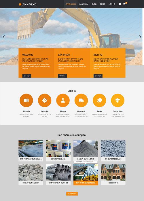 Web công ty vật liệu xây dựng