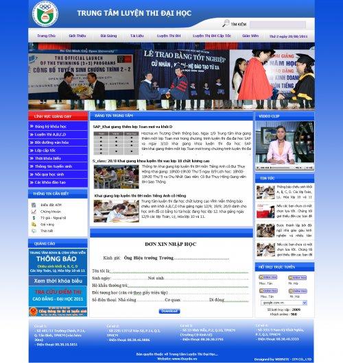 Mẫu web trường học- Trung tâm luyện thi đại học