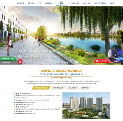 Mẫu web bất động sản gelexia riverside