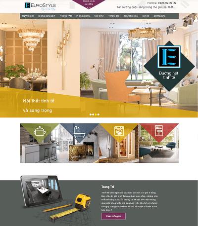 Web thiết kế nội thất erostyle