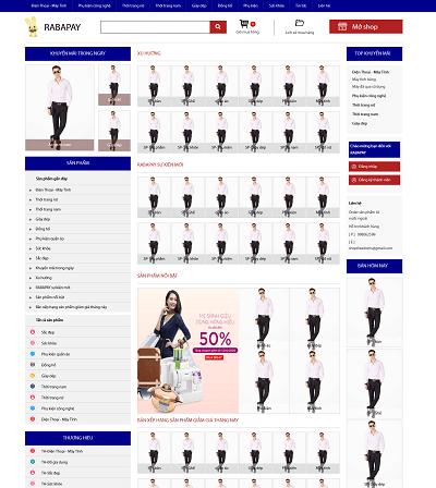 Web sàn thương mại điện tử Rabapay