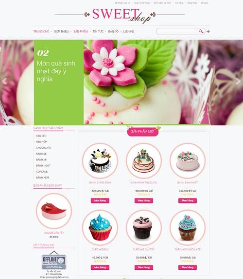 Web bán hàng - bánh ngọt
