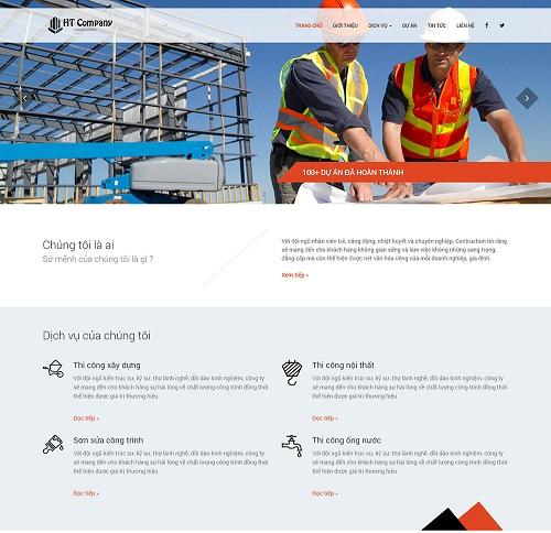 Web công ty thi công xây dựng