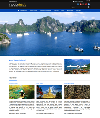 Web du lịch đặt tour Togoasia