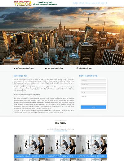 Web giới thiệu công ty Vnseg.vn