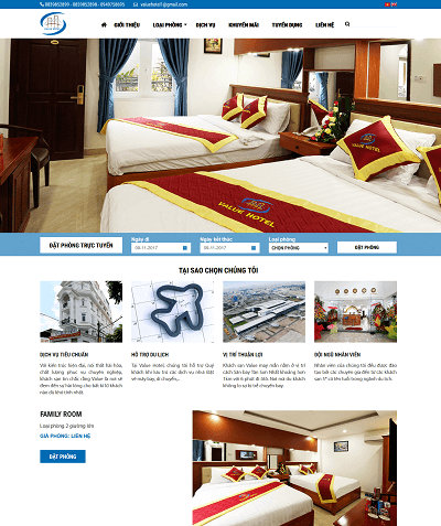 WEb thuê - đặt phòng khách sạn valuehottel