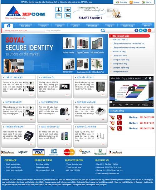Web công ty thiết bị chống chộm