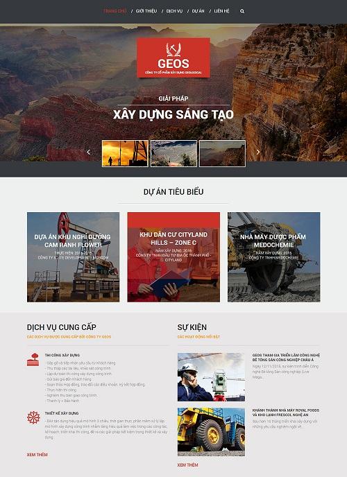 Web công ty xây dựng sáng tạo