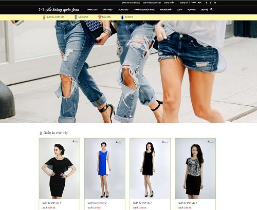 Web bán hàng quần jean - quần áo - nữ hoàng quần jean