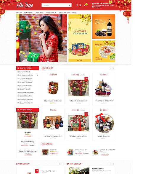 Web bán hàng quà tặng tết