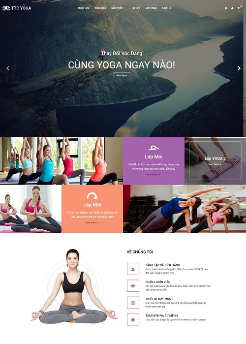 Web giao dục - trung tâm yoga