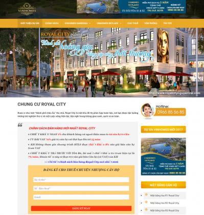 Mẫu web bất động sản Vinhomes