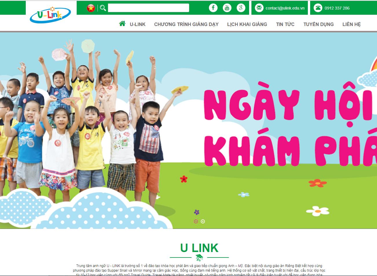 Web giao dục trung tâm u-link